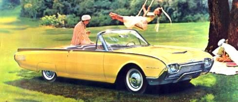 1961 Ford Thunderbird Convertible shown in Desert Gold