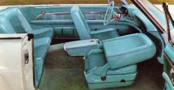 1961 Ford Thunderbird Convertible with Turquoise Cloth and Vinyl interior trim