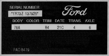 1960-1980 Ford, Lincoln, and Mercury VIN Explanation ...