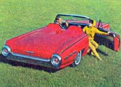 A four passenger convertible becomes a...