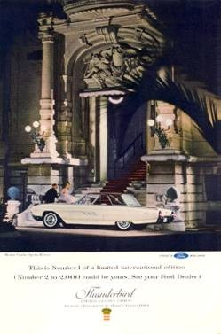 Limited Edition Landau magazine advertisement photographed in front of the Monte Carlo Opera House
