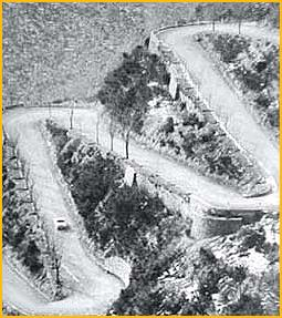 1963 Monte Carlo Road Rally overhead view