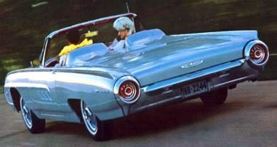 : 1963 Ford Thunderbird Sports Roadster in Silver Mink; in background ...