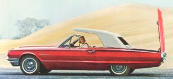1964 Ford Thunderbird Convertible in Rangoon Red with White Top