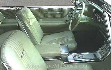 1964 Ford Thunderbird Hardtop interior with accessory door handle (interior shown in Light Gold vinyl)