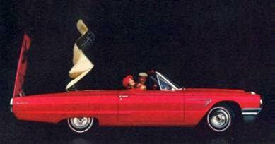 1965 Ford Thunderbird Convertible in Rangoon Red with White Top