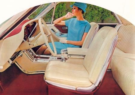 1965 Ford Thunderbird Special Landau interior in Parchment Vinyl with Emberglo Appointments