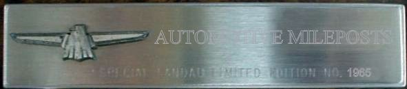 Special Landau Personalized Numbered Nameplate
