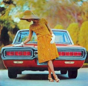 1965 Ford Thunderbird Special Landau rear view with new tail lamps designed for sequential turn signals