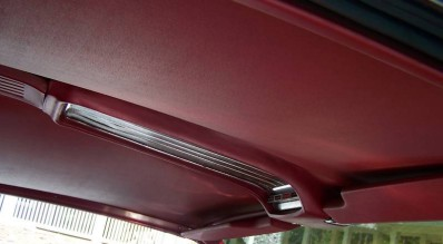 Image: 1966 Ford Thunderbird Town Landau molded headliner and overhead roof console