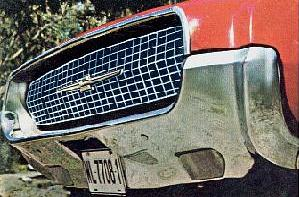 1967 Thunderbird - quarter view of standard front bumper
