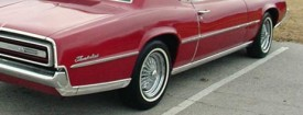 1967 Thunderbird with after market mid-bodyside moulding