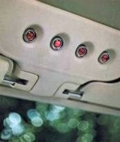 Safety-Convenience Control Panel - overhead warning lights