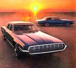 FOREGROUND: 1968 Ford Thunderbird Fordor Landau; BACKGROUND: 1968 Ford Thunderbird Tudor Landau