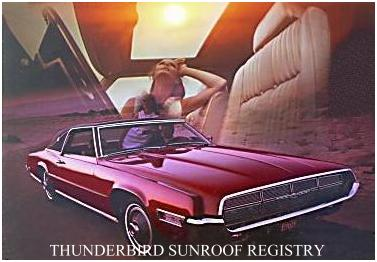 Image: 1969 Ford Thunderbird Tudor Landau with Power Sunroof
