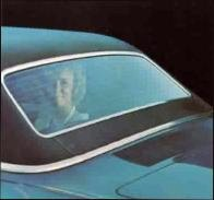 1971 Ford Thunderbird Four Door Landau rear window detail