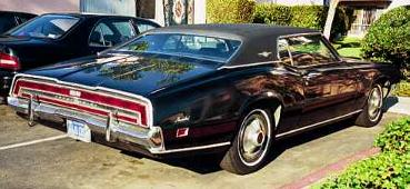 1971 Thunderbird Mark T right rear quarter view