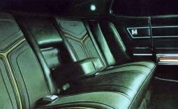 1971 Ford Thunderbird Special Brougham Option interior with coved rear seats