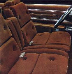 Standard Lamont Cloth and Vinyl Split Bench Seat interior trim (shown in Tobacco)