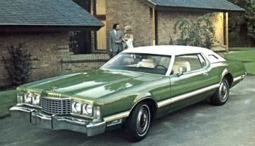 1973 Ford Thunderbird Shown In Optional Green Fire Metallic Paint