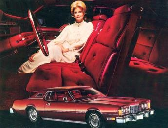 Image: 1974 Thunderbird Burgundy Luxury Group
