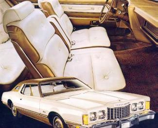 Image: 1974 Ford Thunderbird White and Gold Luxury Group