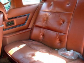 1975 Thunderbird Copper Leather seating surfaces (rear seat shown)