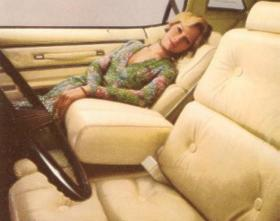 1976 Thunderbird interior with optional Leather Seating Surfaces - shown in White