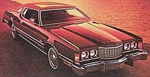 1976 Ford Thunderbird with Bordeaux Luxury Group and Power Glass Moonroof