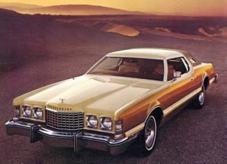 Image: 1976 Ford Thunderbird with Creme and Gold Luxury Group