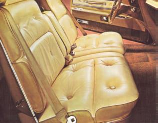 1976 Thunderbird interior shown in Creme and Gold Leather Seating Surfaces (available with Creme and Gold Luxury Group only)