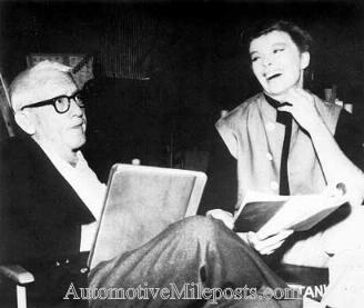 "Spencer Tracy and Katharine Hepburn on the set of ""Guess Who's Coming to Dinner"""