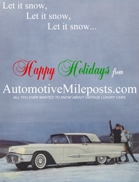 Let it snow, let it snow, let it snow...Happy Holidays from AutomtoveMileposts.com!