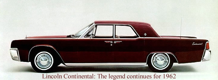 1962 Lincoln Continental Contents | AUTOMOTIVE MILEPOSTS