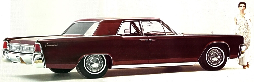 Image: 1963 Lincoln Continental Sedan shown in Burgundy Frost Metallic
