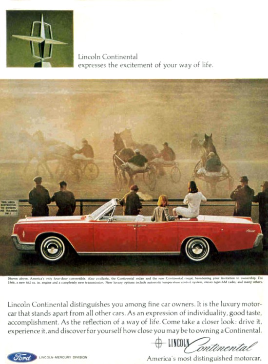 1966 lincoln continental convertible the last ad. Black Bedroom Furniture Sets. Home Design Ideas