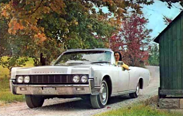 Image: Stainless steel 1966 Lincoln Continental Convertible