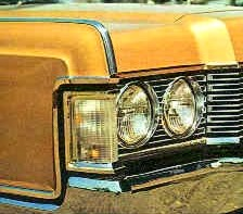 Image: 1968 Lincoln Continental front signal and side marker light assembly