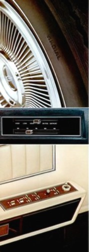 1973 Lincoln Continental Standard Equipment