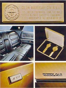 1971 Lincoln Continental Golden Anniversary Town Car