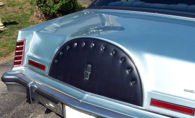 Image: Rear view of 1979 Continental Mark V Collector's Series in Diamond Blue [Photo: eBay]