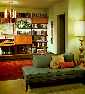 Image: Mid-Century Modern interior decor (click for larger image)