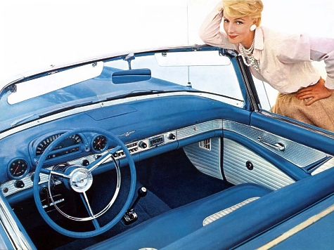 Image: 1956 Ford Thunderbird interior