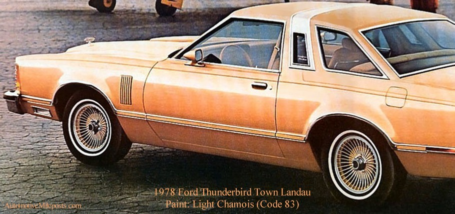 1978 Ford Paint Codes