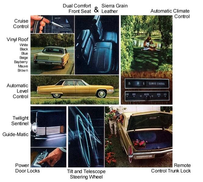 1970 Cadillac Optional Equipment
