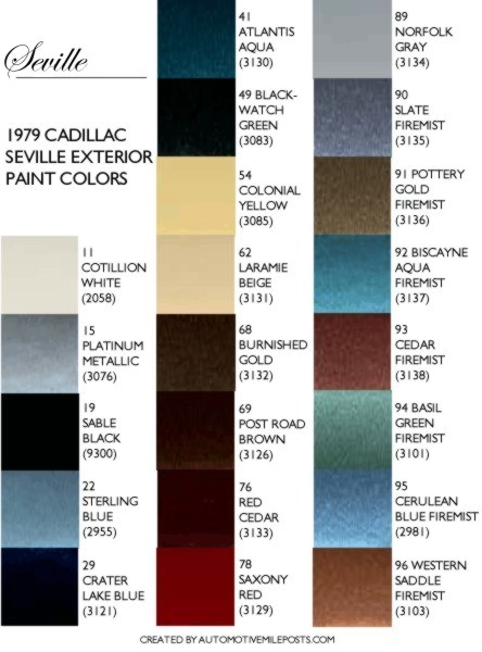 Image 1979 Cadillac Seville Exterior Paint Chips