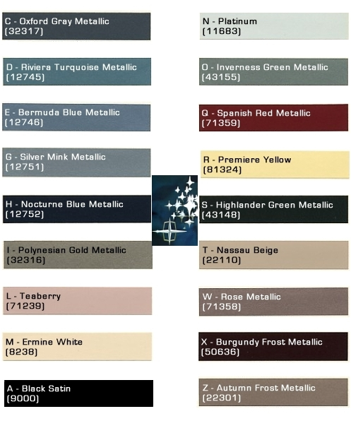 Mustang Paint Codes
